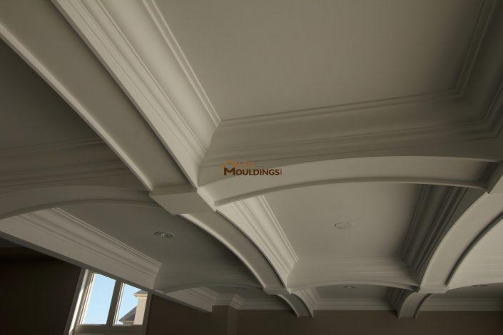 Curved beams custom ceiling design