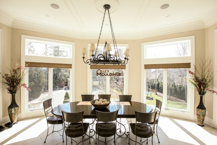 Dining room ceiling frames design