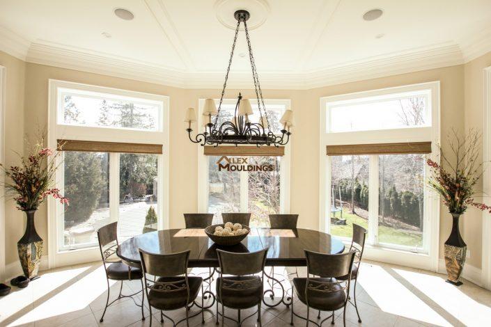 Dining room ceiling frames design