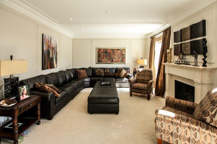 Living Room full wall frames