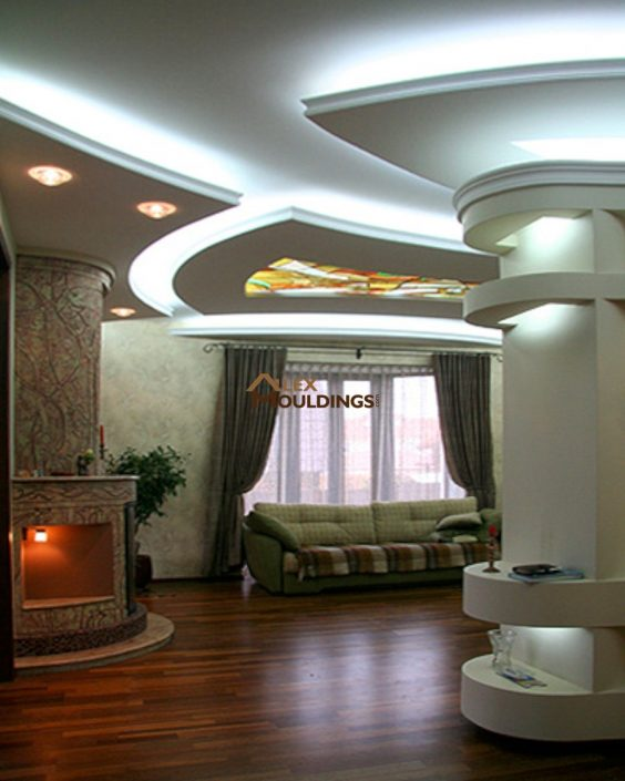 ceiling designed with cove lighting