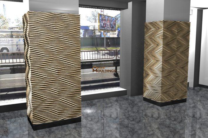 Wavy pattern columns