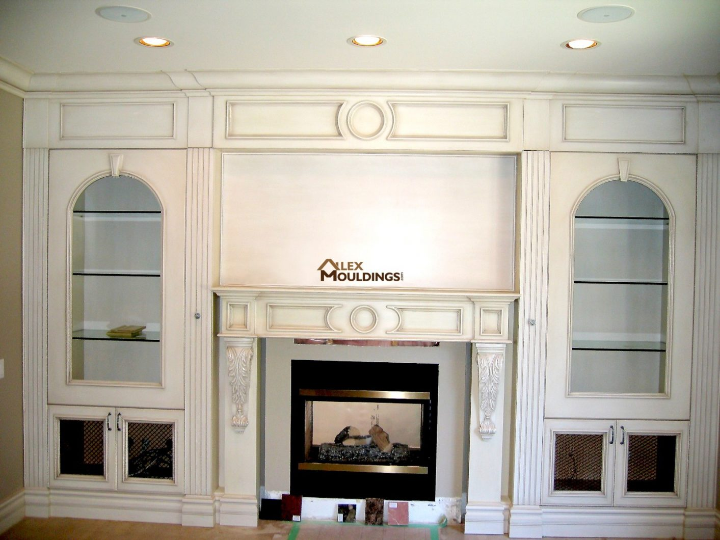 Beaded raised panel wainscot