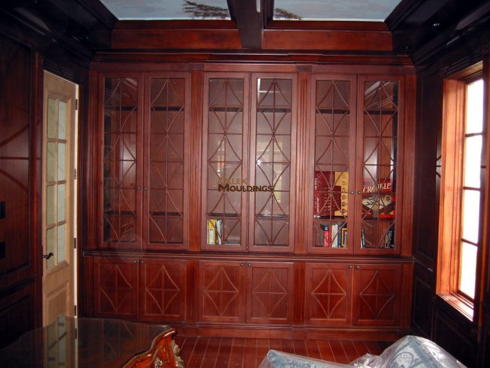 wooden finish wall unit