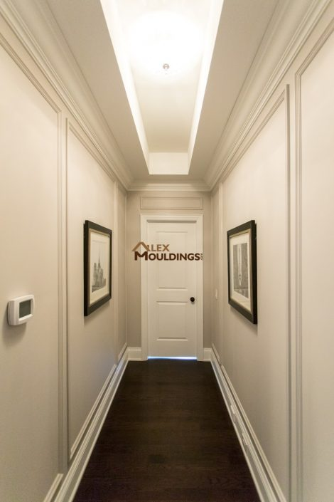 hallway appliques with mouldings
