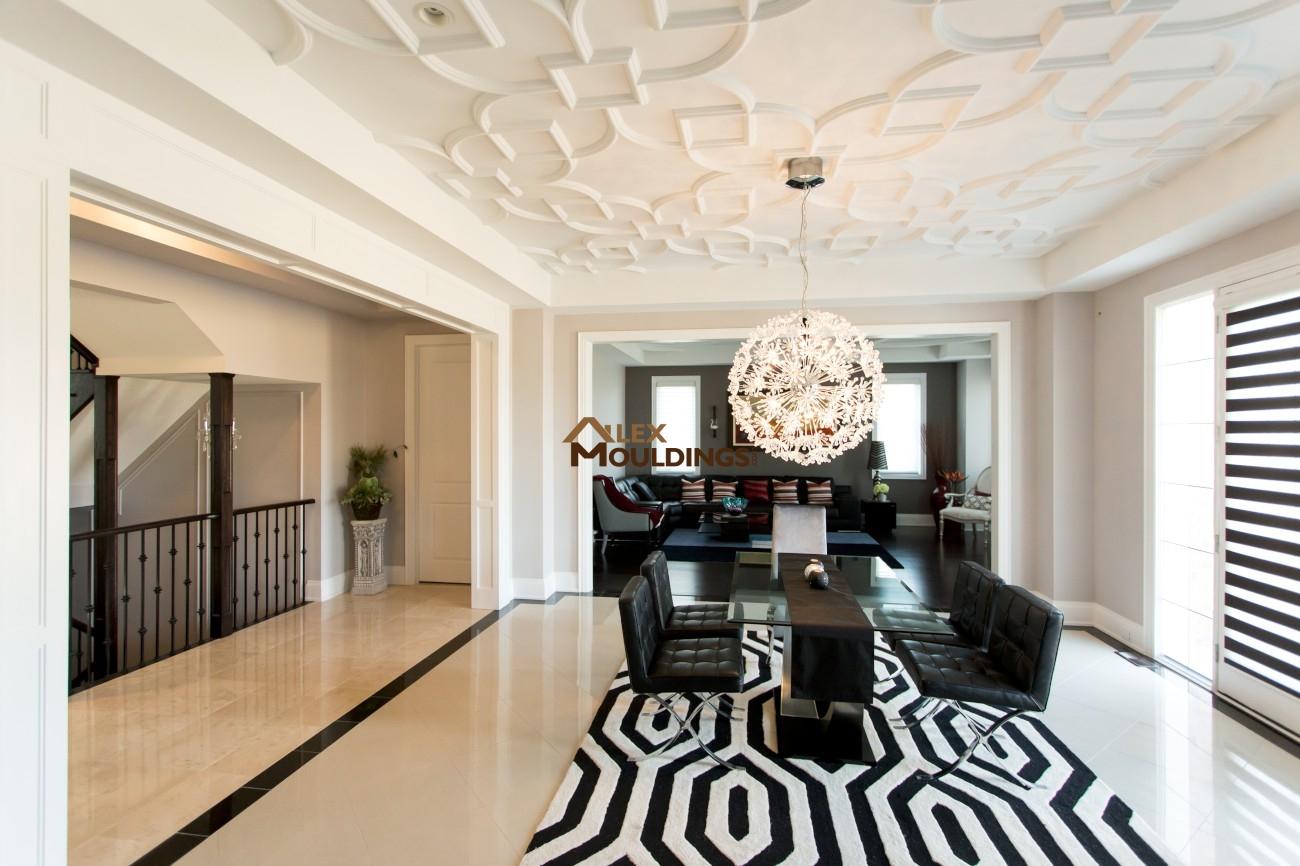 Polyurethane Ceiling Pattern Custom Millwork Wainscot