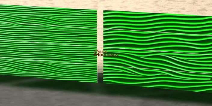 Green Wavy pattern panels