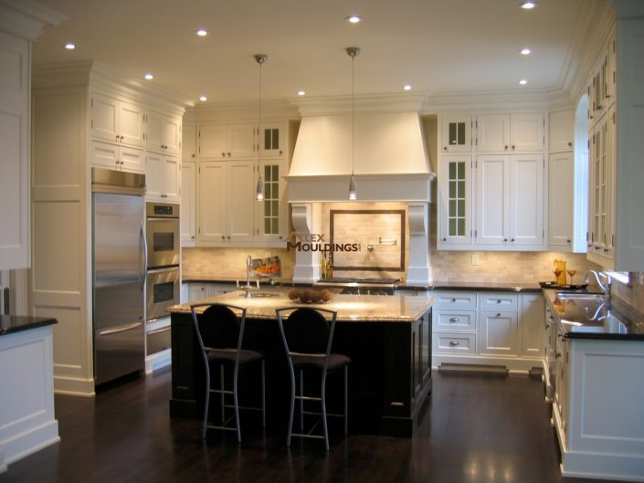 unique white finish maple kitchen