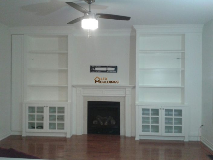white finish wall unit