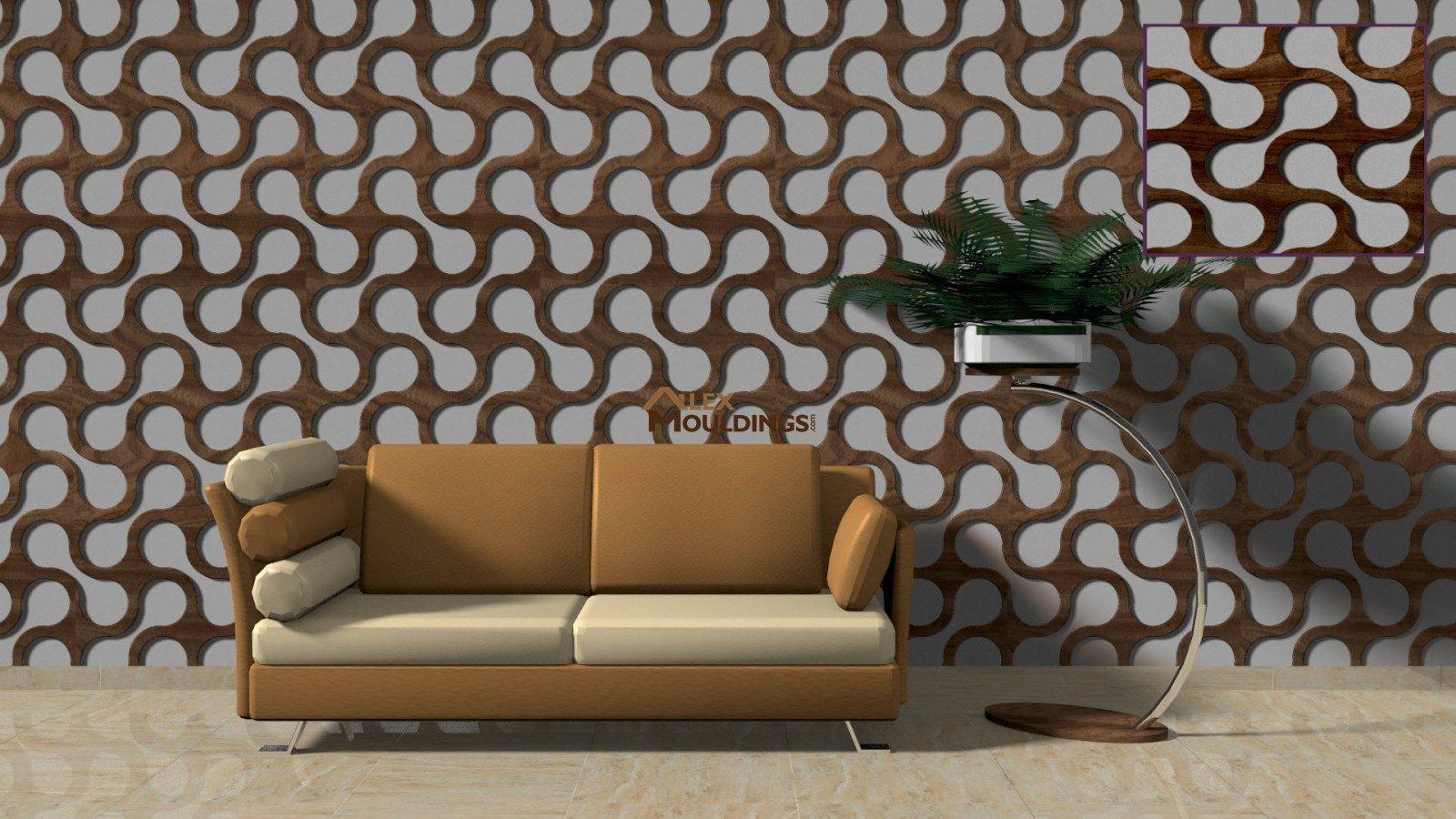 3D circuit screen waves paneling