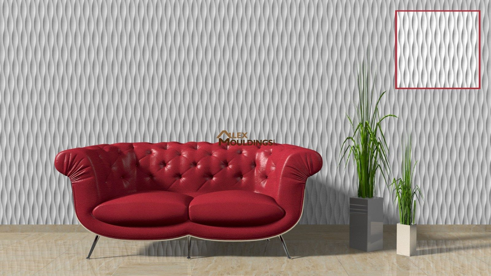 3D vertical waves paneling