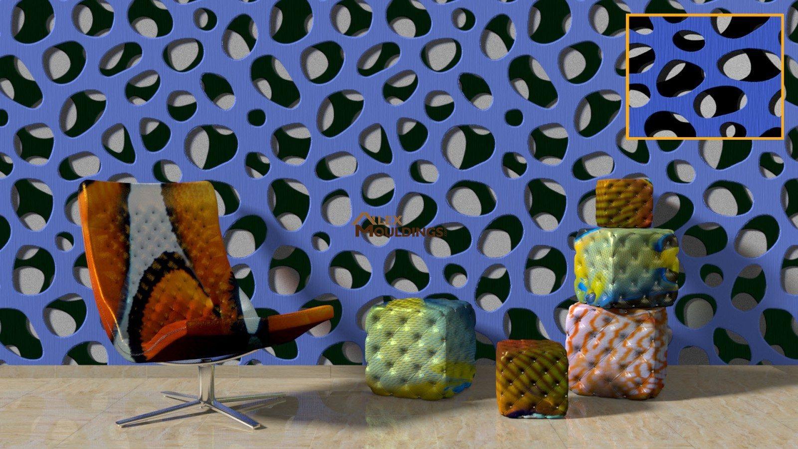 3D organica screen paneling