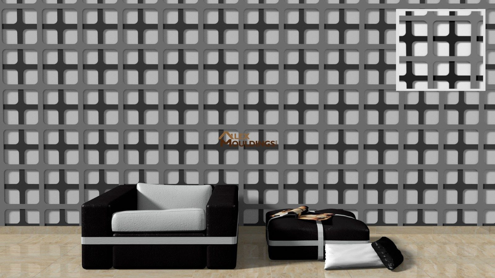 3D square waves paneling