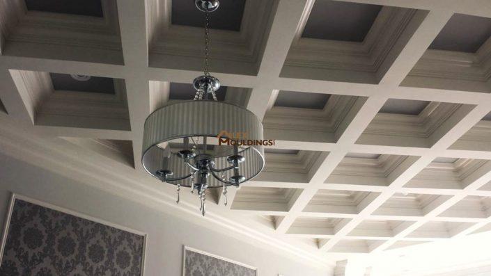 Asymmetrical cofferred ceiling pattern