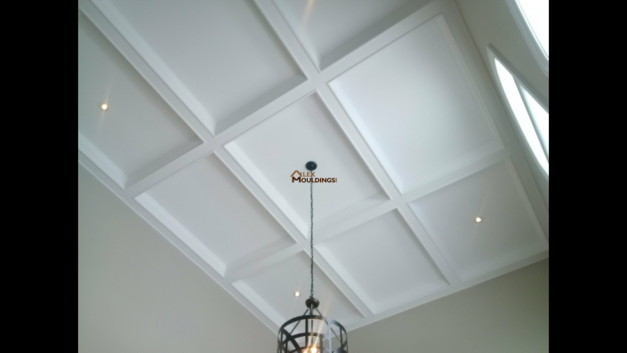 Small beams traditional coffered ceiling