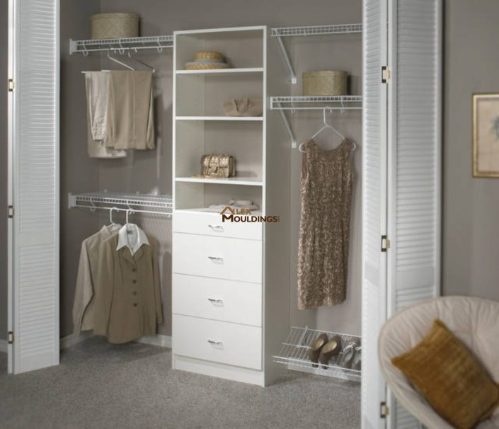 Easy reach in storage closet