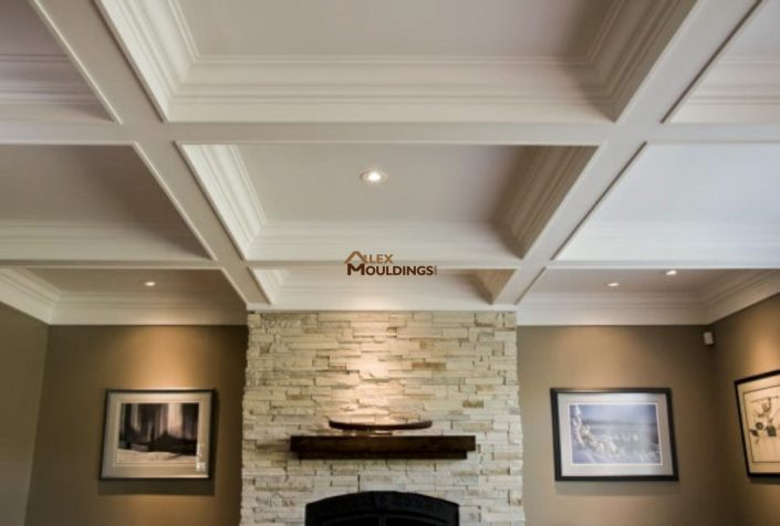 Living room classic beamed ceiling