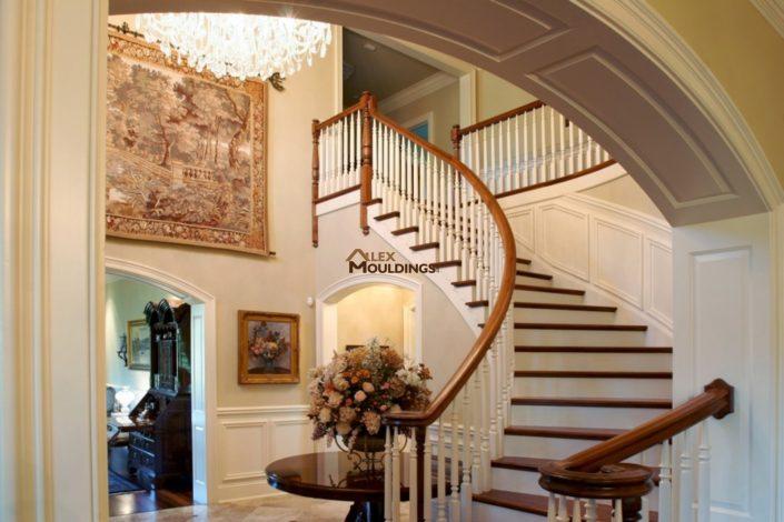 Hallway and stairway wainscotting