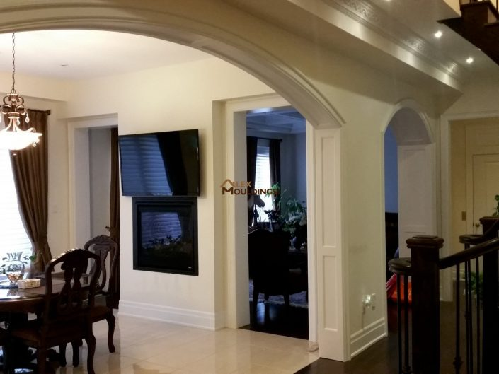 Casing arched opening design