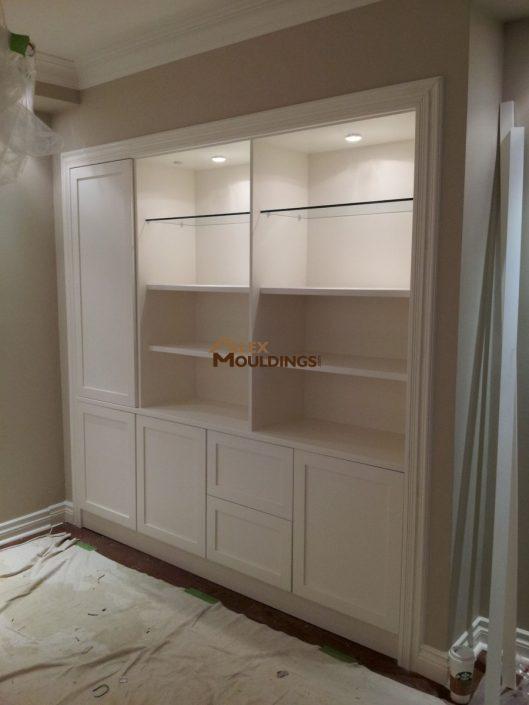 White closet unit