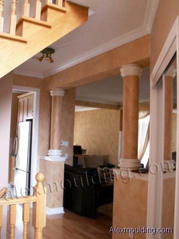 Wood mdf round columns smooth fluted support columns wrap for Mdf square columns