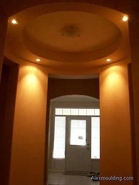 Main floor potlights hallway living room dining room for Pot light installation