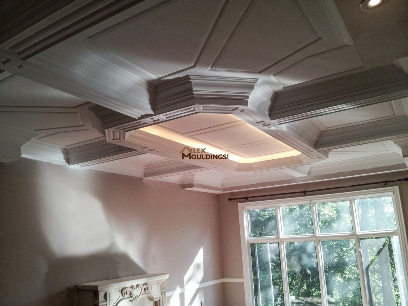 151 special coffered waffle ceilings making homes look richer for Coffered ceiling styles