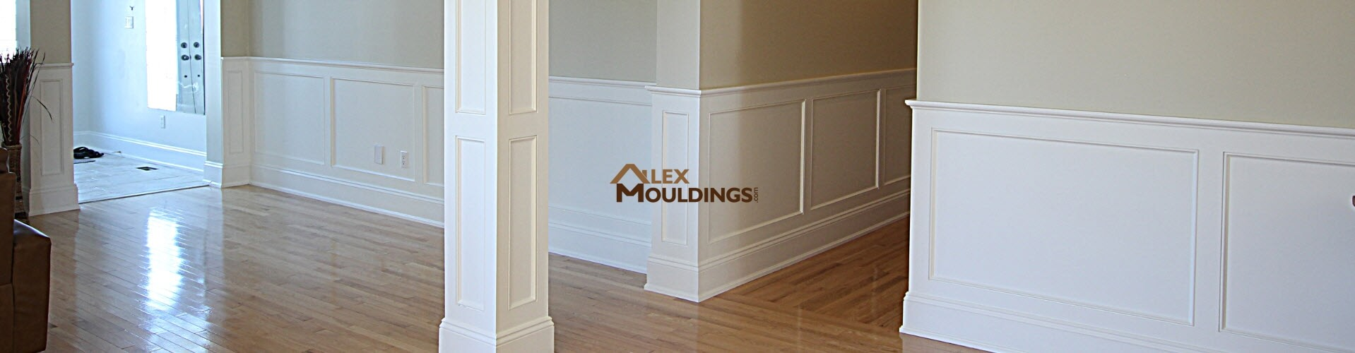Modern Wainscoting in Living Room