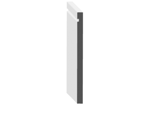 "7"" Modern Baseboard: 7 1/4"" x 1/2"" x 14'"