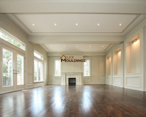 With A Simple Trim Line Running The Place Of Ceiling And Contrasting Colors One Can Easily Create Coffered Tray Effect