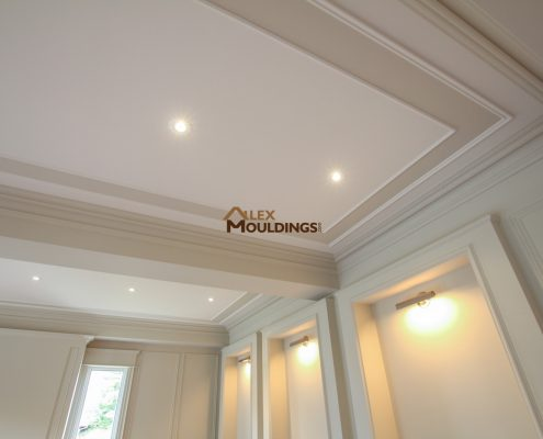 151 Special Coffered Waffle Ceilings Making Homes Look Richer