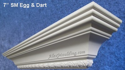 Fancy Dentil Crown Moldings With Embossed Design