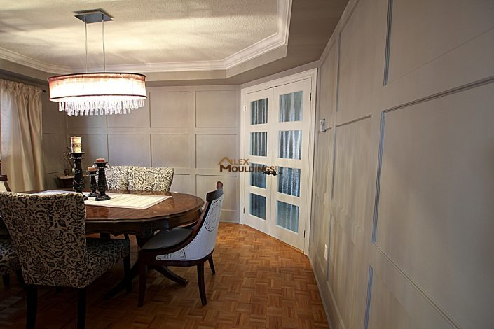 accent wall dining room