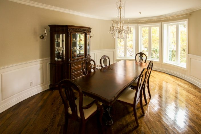 crown moulding wainscoting combo