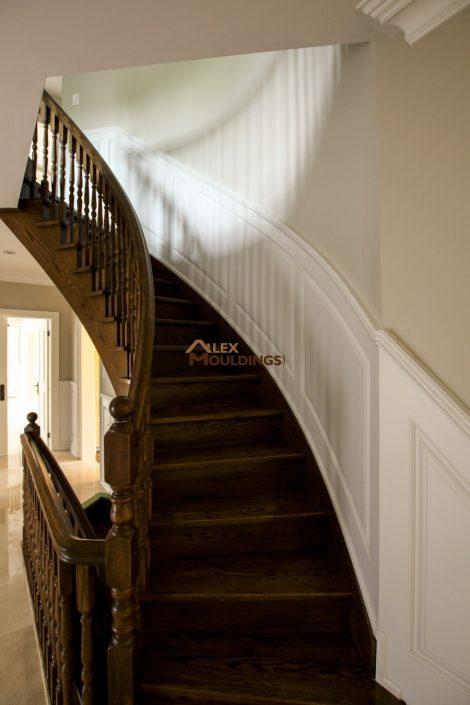 curvy stairway raised panel type