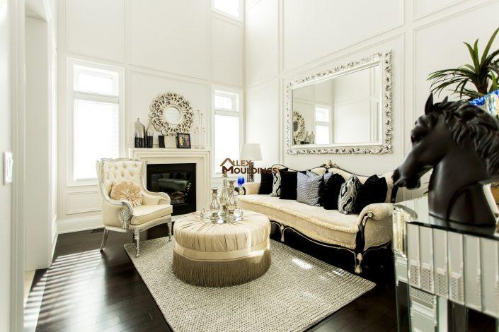 living room wainscotings