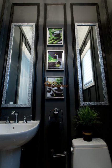 black powder room style