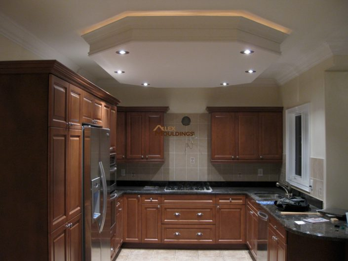 dropped ceiling circle with pot lighs