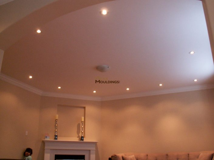 round edges ceiling pot lights