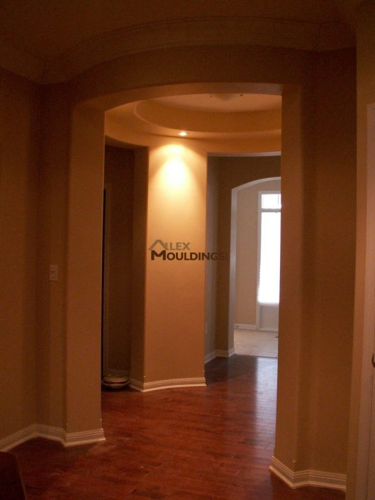 hallway warm lighting