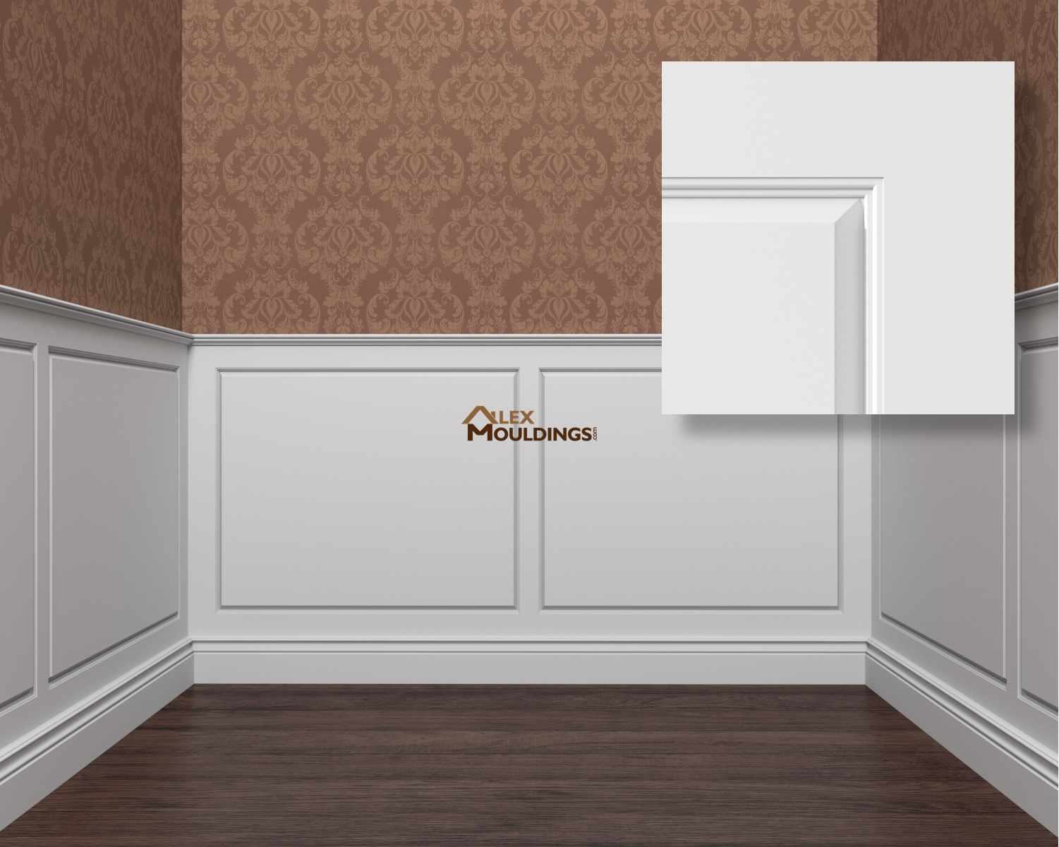 Raised panel 1 wainscoting