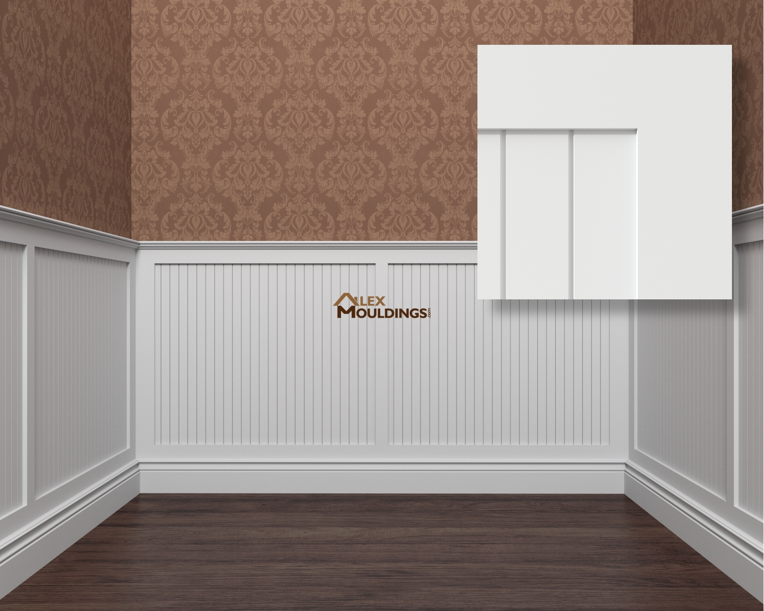 Shaker bead board wainscoting